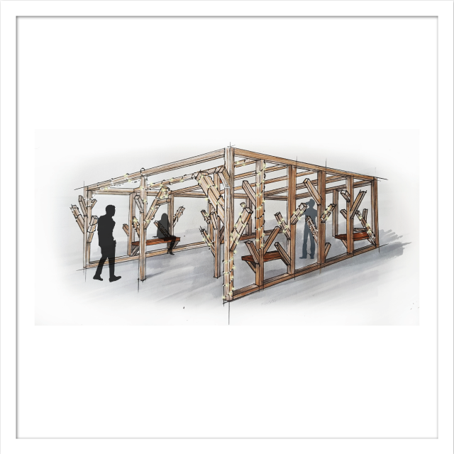 Dessin mobilier en bois