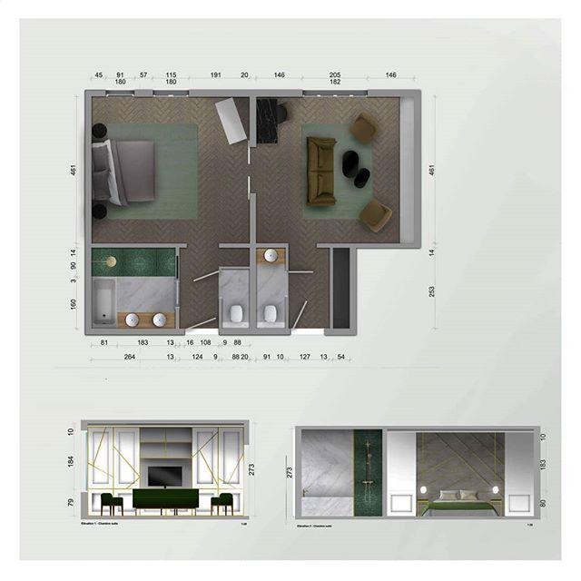 Architecte d'intérieur plan 3D